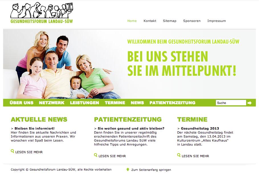 gesundheitsforum-LD Homepage